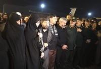 حضور فرماندهان ارشد سپاه در مراسم استقبال از پیکر شهید حججی + عکس