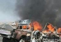 مرگ ۸ نفر در آتش سوزی تصادف پژو و تویوتا/انحراف به چپ برای تصادف نکردن با الاغ علت حادثه
