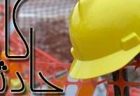 مصدومیت دو کارگر در اثر سقوط جرثقیل دَهتُن