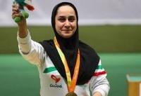 جوانمردی در تپانچه خفیف ۵۰ متر به مدال طلا رسید