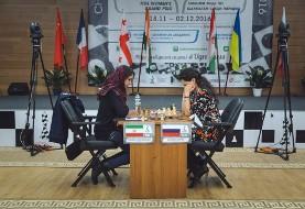 بانوی ایرانی در گرندپری شطرنج جهان قهرمان روسیه را شکست داد (آلبوم تصاویر)