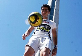 Young Iranian Footballer with World Record for Juggling a Soccer Ball ...