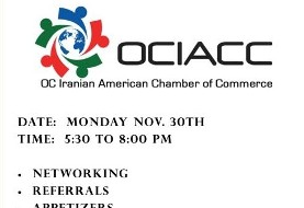 Orange County Iranian American Chamber of Commerce Business Mixer