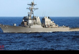 هشدار جنگندههای ارتش ایران به کشتیهای ائتلاف عربی در جریان رزمایش مشترک محمد رسول الله
