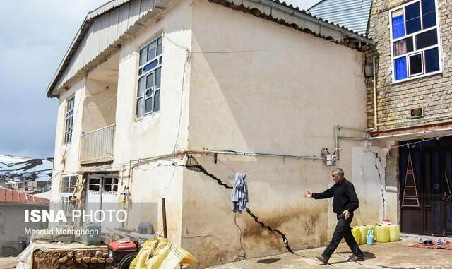 فیلم: زمین برای بلعیدن اهالی سمنان دهان باز کرد! ۲۵۰ خانه روستایی کالپوش در معرض خطر باید تخلیه شوند
