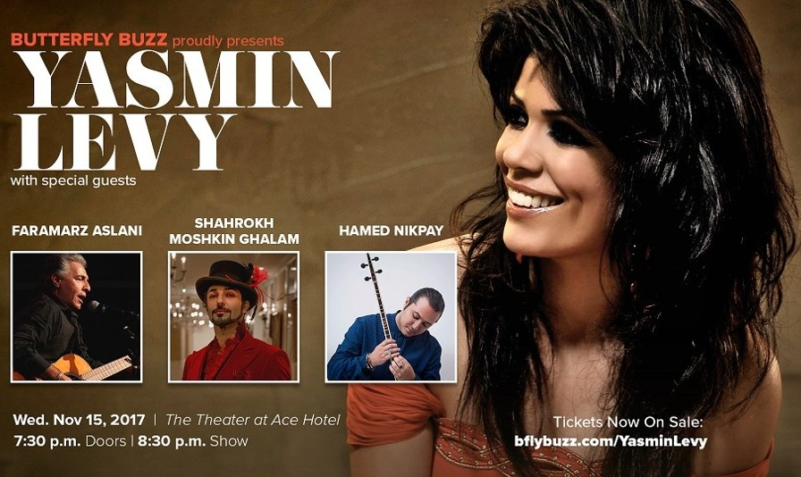 Yasmin Levy in Los Angeles with Faramarz Aslani, Shahrokh Moshkin Ghalam, Hamed Nikpay