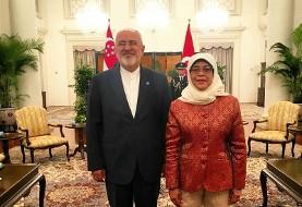 چین و اروپا بار دیگر از برجام حمایت کردند/ دیدار ظریف با رئیسجمهور سنگاپور و وزیر خارجه چین