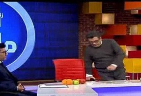 رشیدپور دوباره در برنامه زنده از حال رفت! فیلم