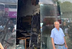 لباس فروشی مهاجر یهودی ایرانی آمریکایی در جریان آشوب های لس آنجلس توسط فقرای آشوبگر به غارت رفت و آتش زده شد