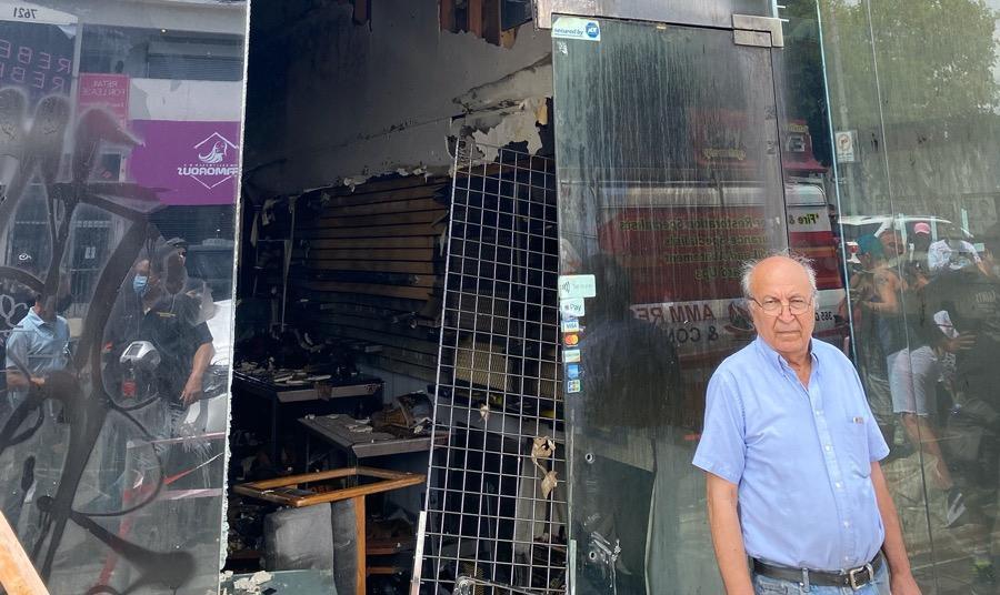 لباس فروشی مهاجر یهودی ایرانی آمریکایی در جریان آشوب های لس آنجلس ...