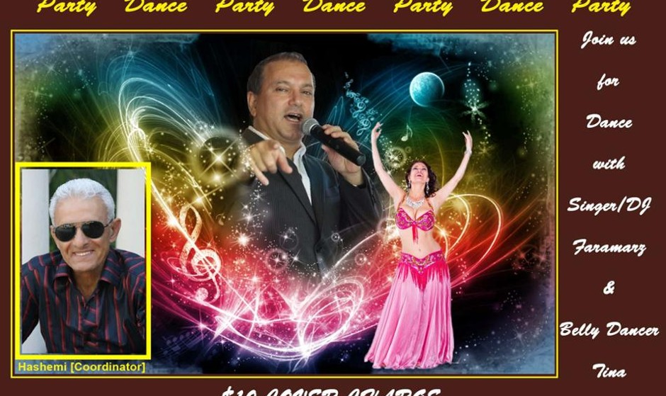 A Night of Dancing with Singer/DJ Faramarz and Belly Dancer Tina