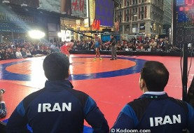 Iranian Wrestlers in Time Square and Los Angeles, Wrestling Diplomacy Continues