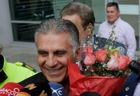 کی روش وارد کشور کارفرمای جدید خود کلمبیا شد: یک ایرانی هم در جمعیت ناظر وی بود!