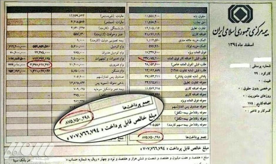 در پرونده حقوقهای نجومی مدیران دولتی ۹۳ حکم قطعی صادر شده: بازگشت ۲۴ میلیارد تومان از حقوق های نامتعارف به خزانه
