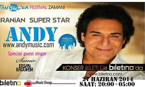 کنسرت اندی در استانبول برای جام جهانی