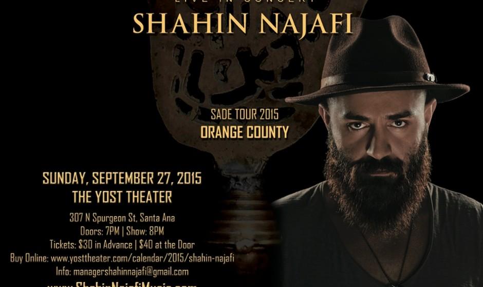 CANCELED: Shahin Najafi Live in Orange County - Santa Ana