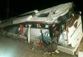 واژگونی اتوبوس حامل زائران عراقی در ایران به دلایل نامشخص