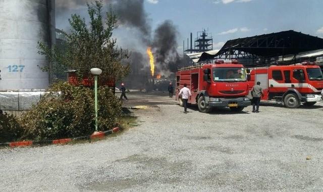 خرابکاری یا حادثه؟ انفجار مهیب و آتش سوزی گسترده مواد شیمیایی در شهرک صنعتی خمین
