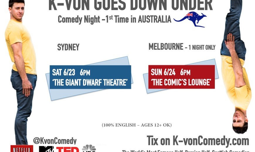 K-von Comedy Night in Sydney: The Most Famous Half-Persian American Comedian