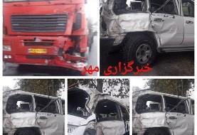 حال نوربخش وخیم است: تصادف خودروی وزیر کار و رییس سازمان تامین اجتماعی با تانکر حمل سوخت در استان گلستان