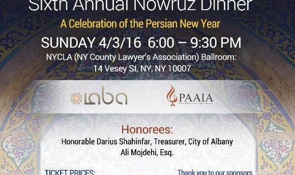 IABA -NY Nowruz Gala- Sunday, April 3rd