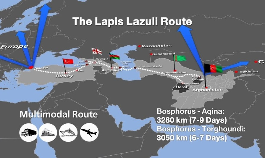 Afghanistan Bypasses Iran with Lapis Lazuli Corridor