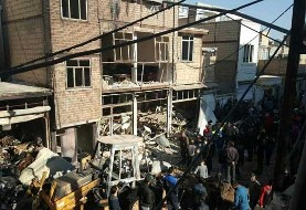 Explosion destroys several houses in IslamShahr