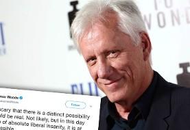چرا حساب کاربری جیمز وودز بازیگر آمریکایی در توییتر بسته شد؟