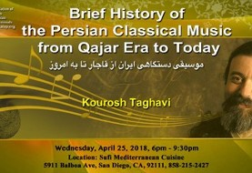 Lecture and Dinner (optional) with Kourosh Taghavi: Brief History of the Persian Classic Music from Qajar Era to Today