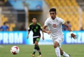بازیکن تیم فوتبال امید در آستانه عقد قرارداد با آیندهون هلند