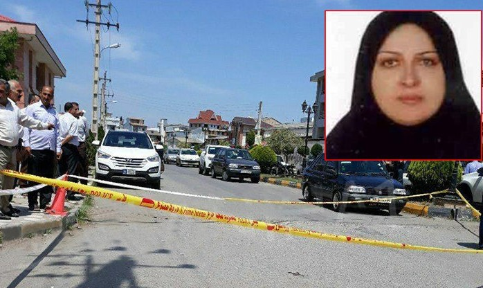 تیراندازی و قتل خانم وکیل مقابل دادگستری لنگرود در روز روشن!