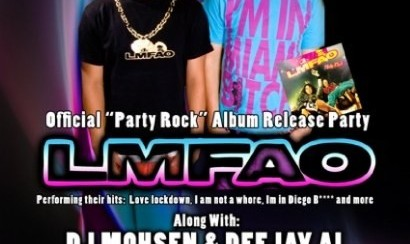 """DJ Mohsen and DJ Al in LMFAO Official """"Party Rock"""" Album Release Party"""