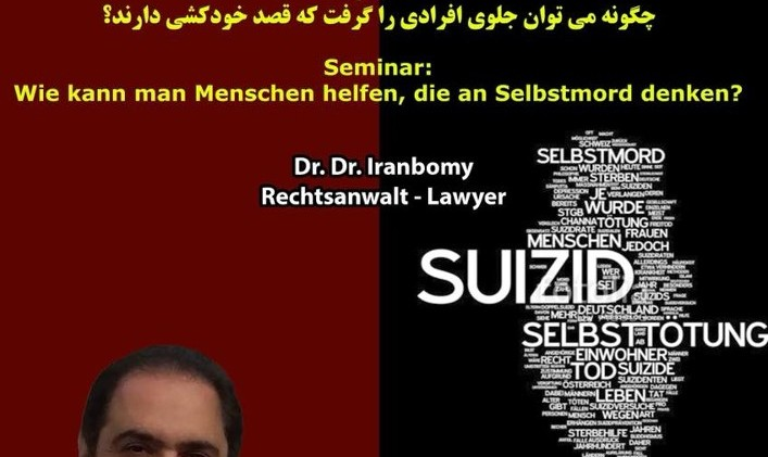 Dr. Iranbomy, Rechtsanwalt, Seminar: World Suicide Prevention Day