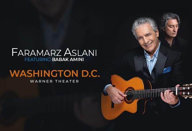 کنسرت فرامرز اصلانی و بابک امینی در واشینگتون
