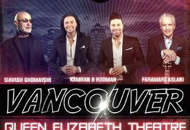 Siavash Ghomayshi, Faramarz Aslani & Kamran Hooman Live in Vancouver