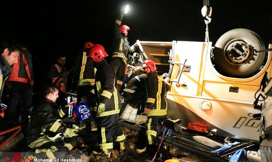 جاده مشهد باز قربانی گرفت: واژگونی ۲ دستگاه اتوبوس ۵۸ کشته و مصدوم بر جای گذاشت