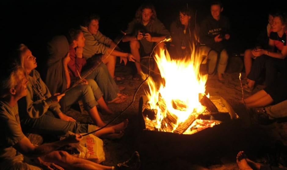 Bonfire on Beach, with Iranian Student Association at California State University Fullerton