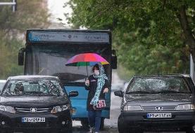 تصاویر: تهران، زیر باران بهاری