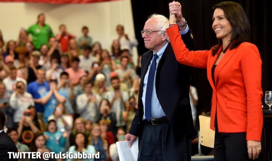 این دو نامزد ریاست  جمهوری آمریکا برای اولین بار جلوی لابی ...