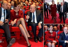 Sepp Blatter's Iranian-born girlfriend is married!