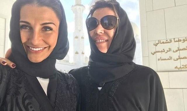 عکس همسران بازیکنان رئال مادرید با حجاب در مسجد شیخ زاید امارات