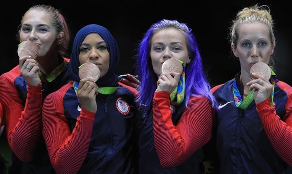 First ever Olympics medal for an American Muslim athlete with Hijab