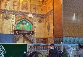 تصویر: درهای حرم امام علی در نجف به خاطر کرونا بسته شد