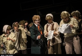 Oliver Twist musical in Persian on stage in Tehran's Vahdat theater