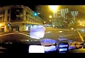Ferrari and Taxi Crash in Singapore (video)