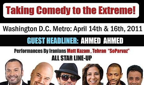 Ahmed Ahmed & Tehran in FUNATICAL Interfaith and Intercultural Comedy Tour