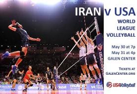 USA vs. IRAN in FIVB Volleyball Men's World League ۲۰۱۵