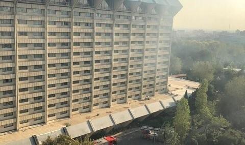 دلیل دود مشکوک در میدان فاطمی آتش سوزی در رستوران هتل لاله بود