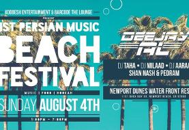 اولین و بزرگترین پارتی و فستیوال موسیقی تابستانی ساحلی ایرانیان در اورنج کانتی