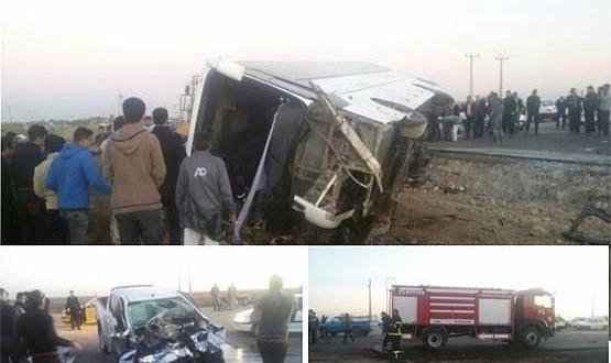 باز هم راهیان نور قربانی گرفت: ۸ دانش آموز دختر کشته و ۴۰ زخمی در تصادف سوسنگرد (+عکس)